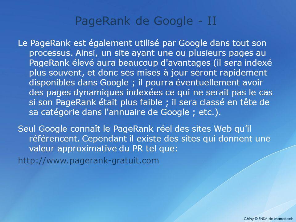 PageRank de Google - II