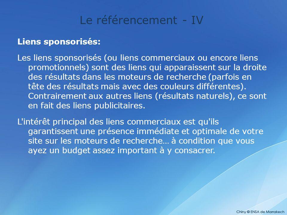 Le référencement - IV Liens sponsorisés:
