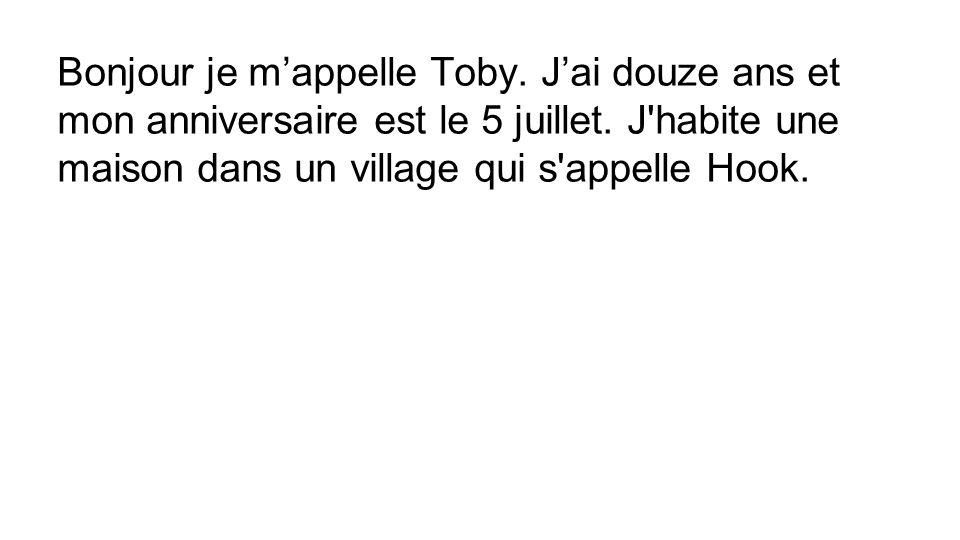 Bonjour je m'appelle Toby