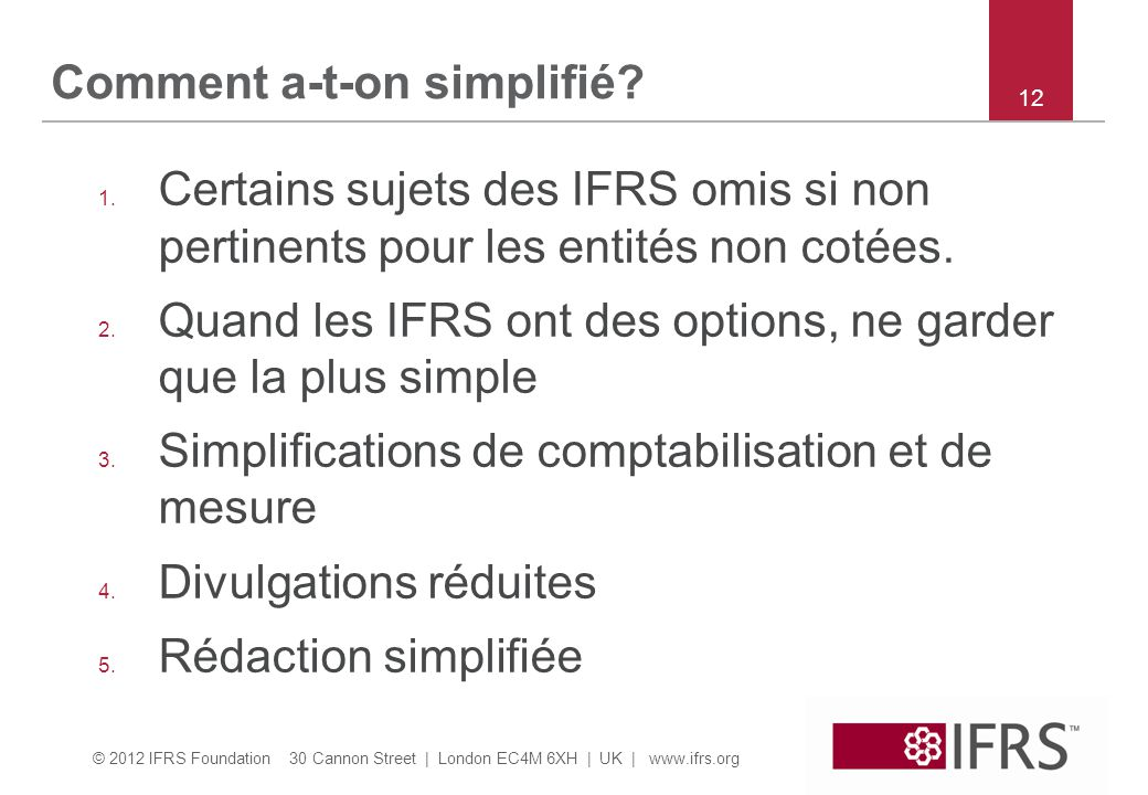 Comment a-t-on simplifié