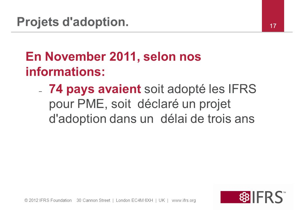 En November 2011, selon nos informations: