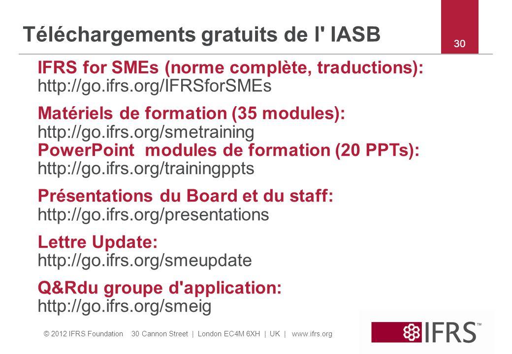 Téléchargements gratuits de l IASB