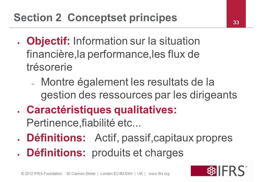Section 2 Conceptset principes