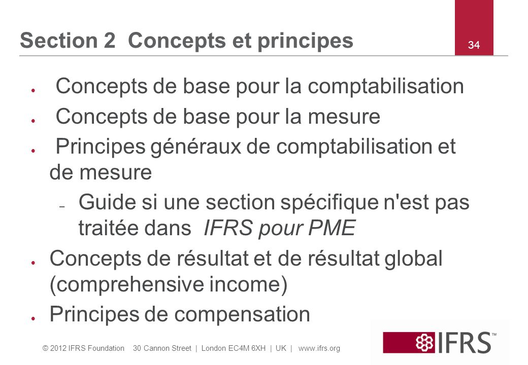 Section 2 Concepts et principes