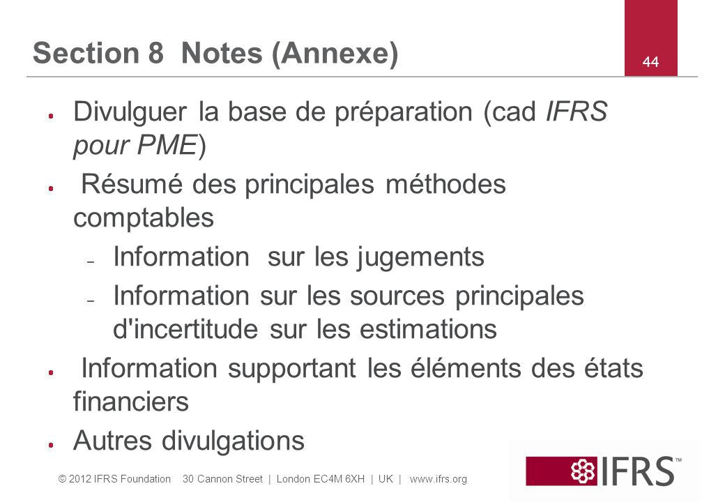 Section 8 Notes (Annexe)