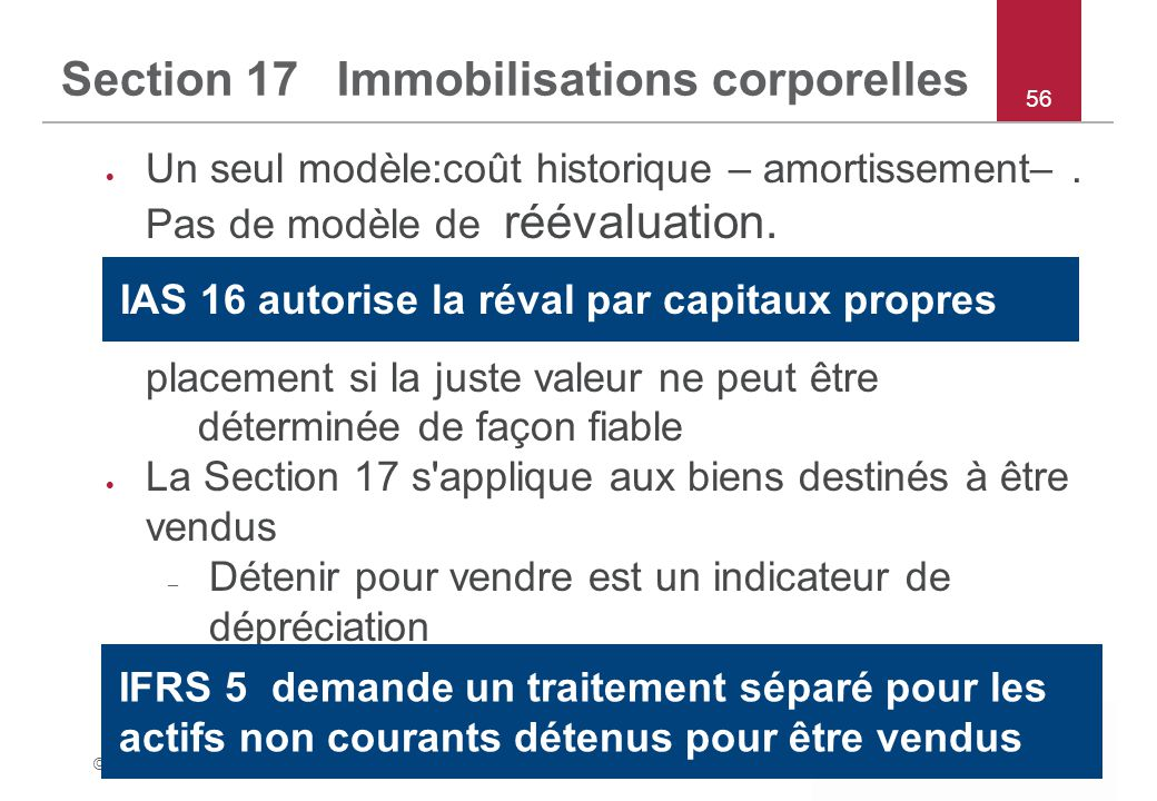 Section 17 Immobilisations corporelles