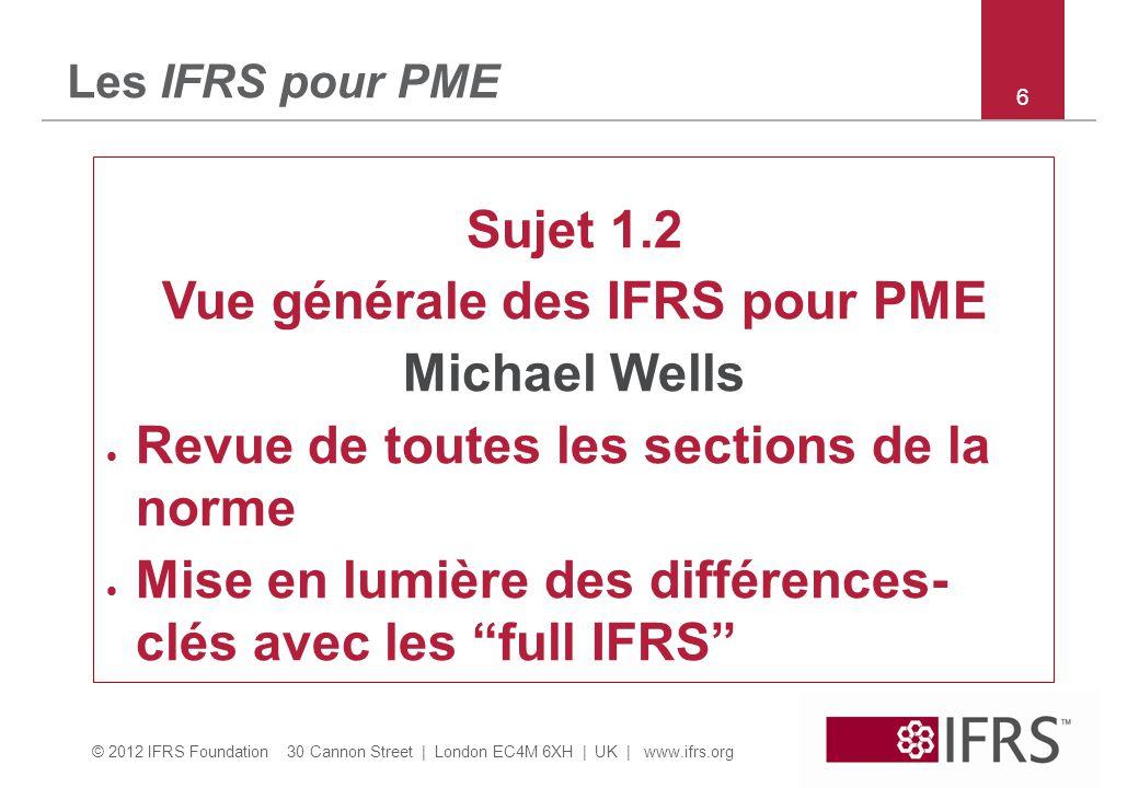 Vue générale des IFRS pour PME
