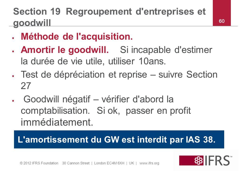 Section 19 Regroupement d entreprises et goodwill