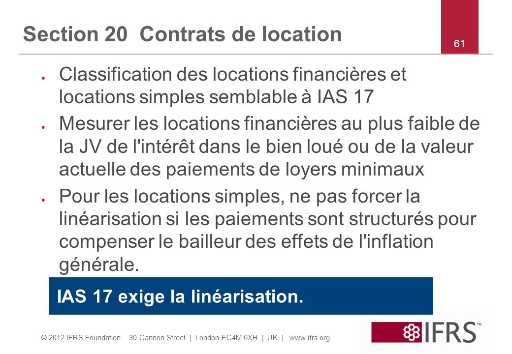 Section 20 Contrats de location
