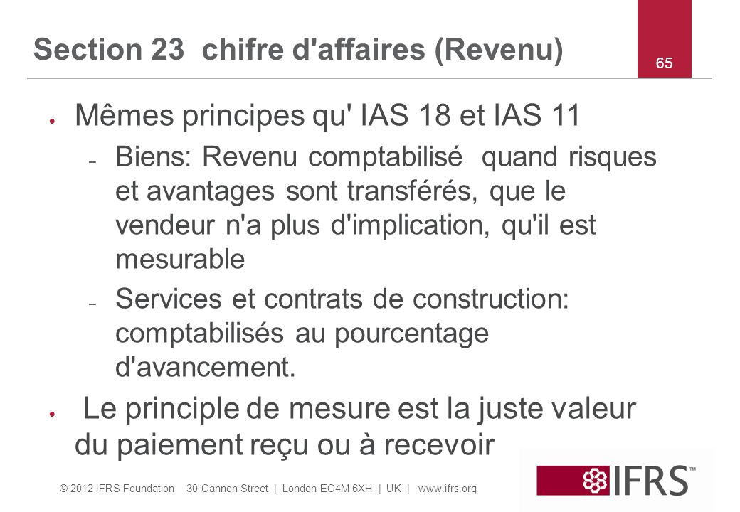 Section 23 chifre d affaires (Revenu)