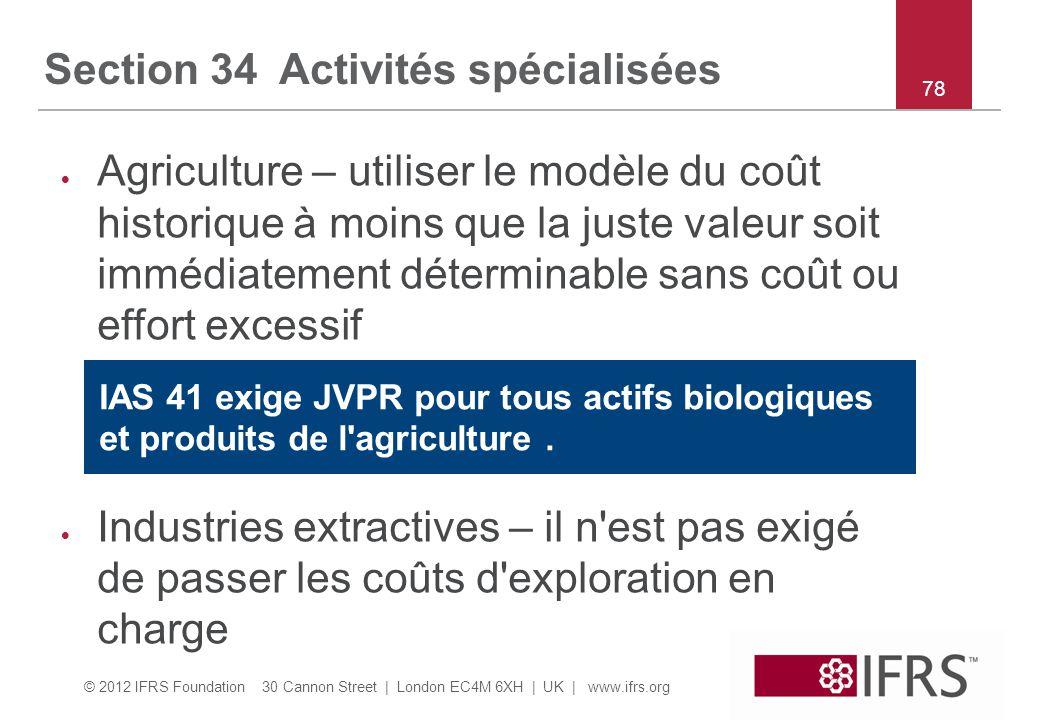 Section 34 Activités spécialisées