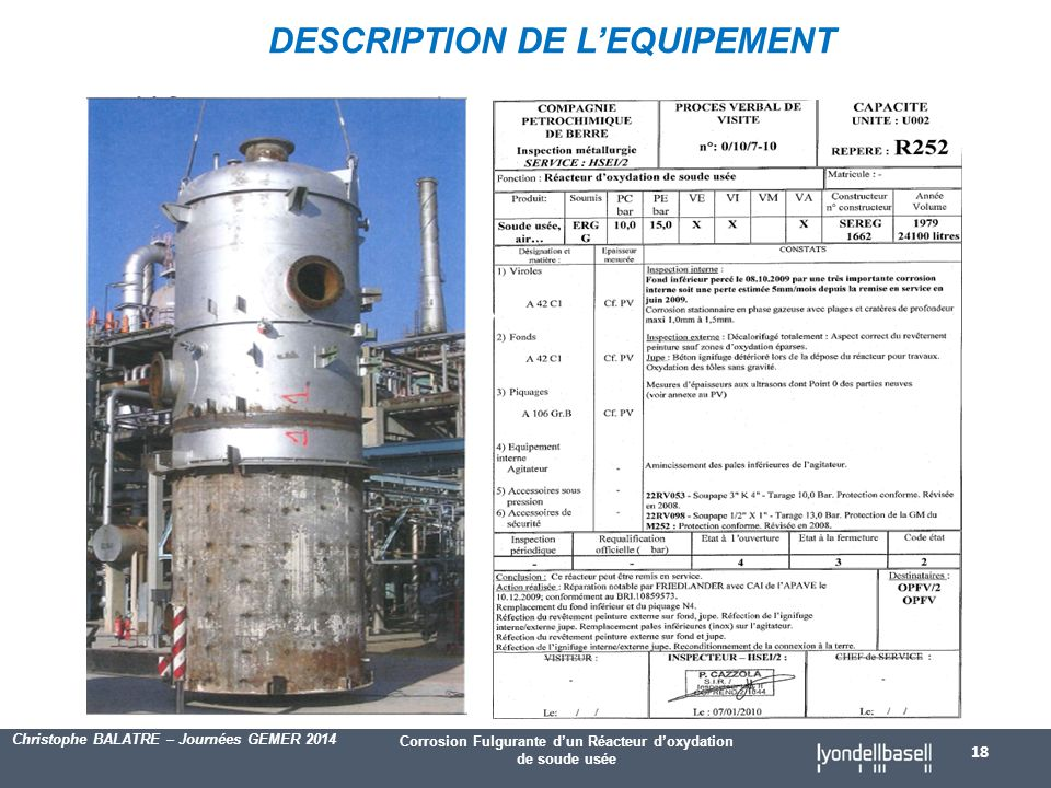 DESCRIPTION DE L'EQUIPEMENT