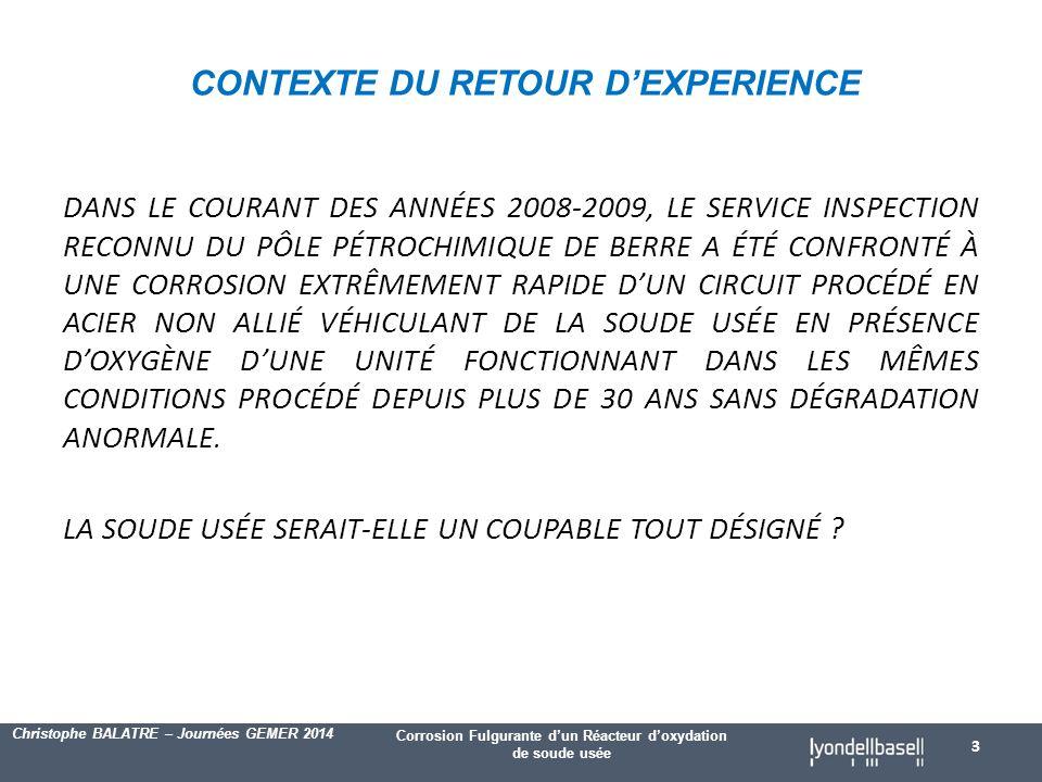 CONTEXTE DU RETOUR D'EXPERIENCE