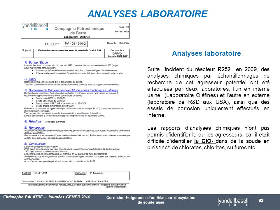 ANALYSES LABORATOIRE Analyses laboratoire