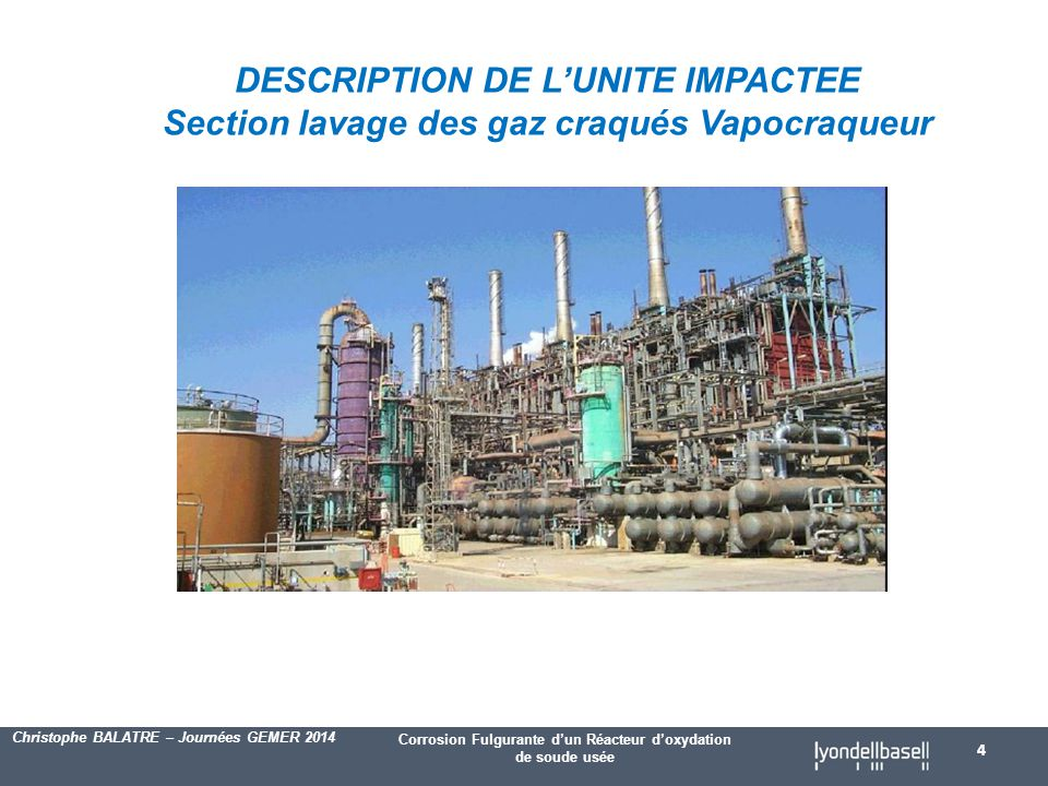 DESCRIPTION DE L'UNITE IMPACTEE
