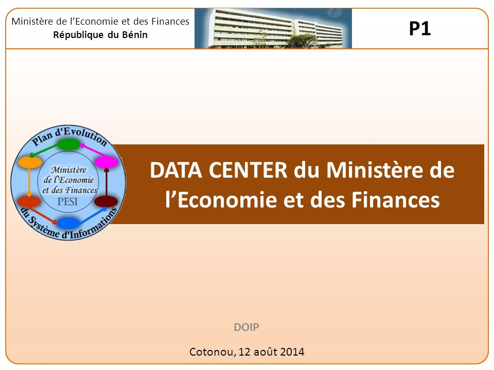 DATA CENTER du Ministère de l'Economie et des Finances
