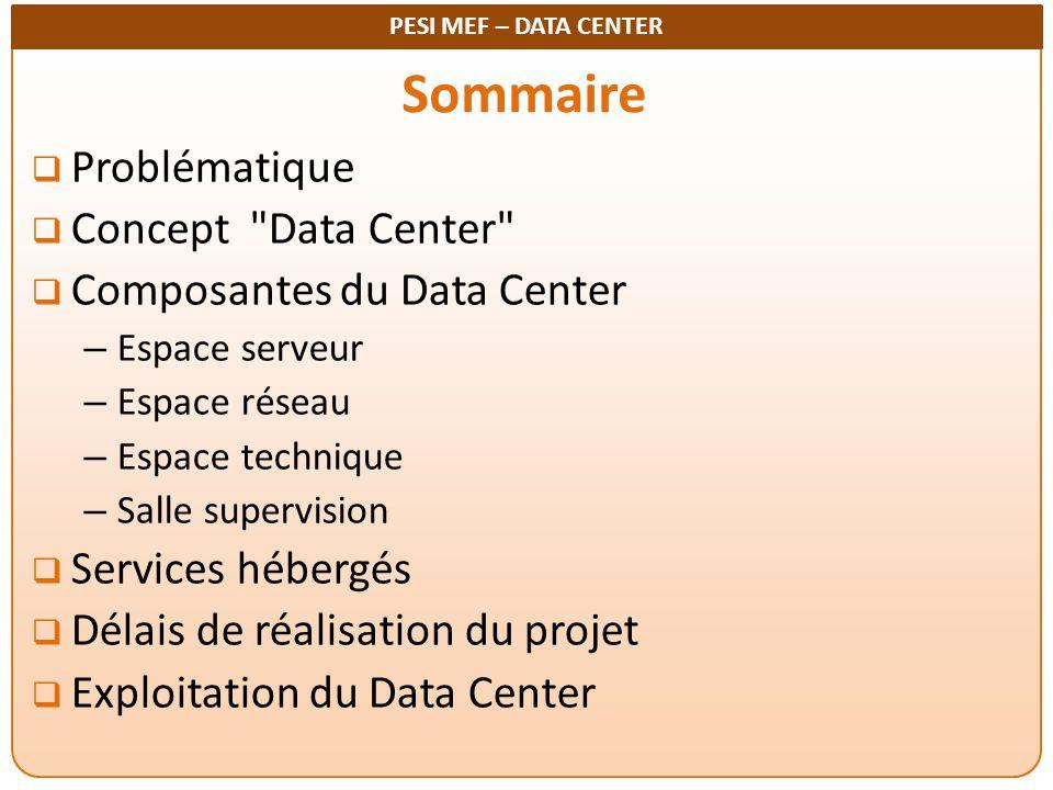 Sommaire Problématique Concept Data Center