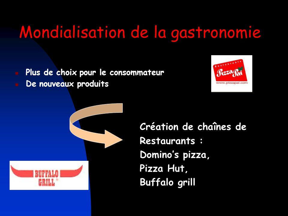Mondialisation de la gastronomie