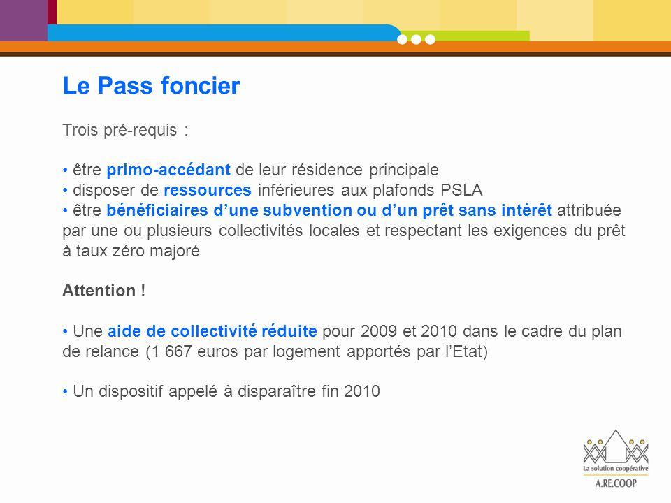 Le Pass foncier Trois pré-requis :