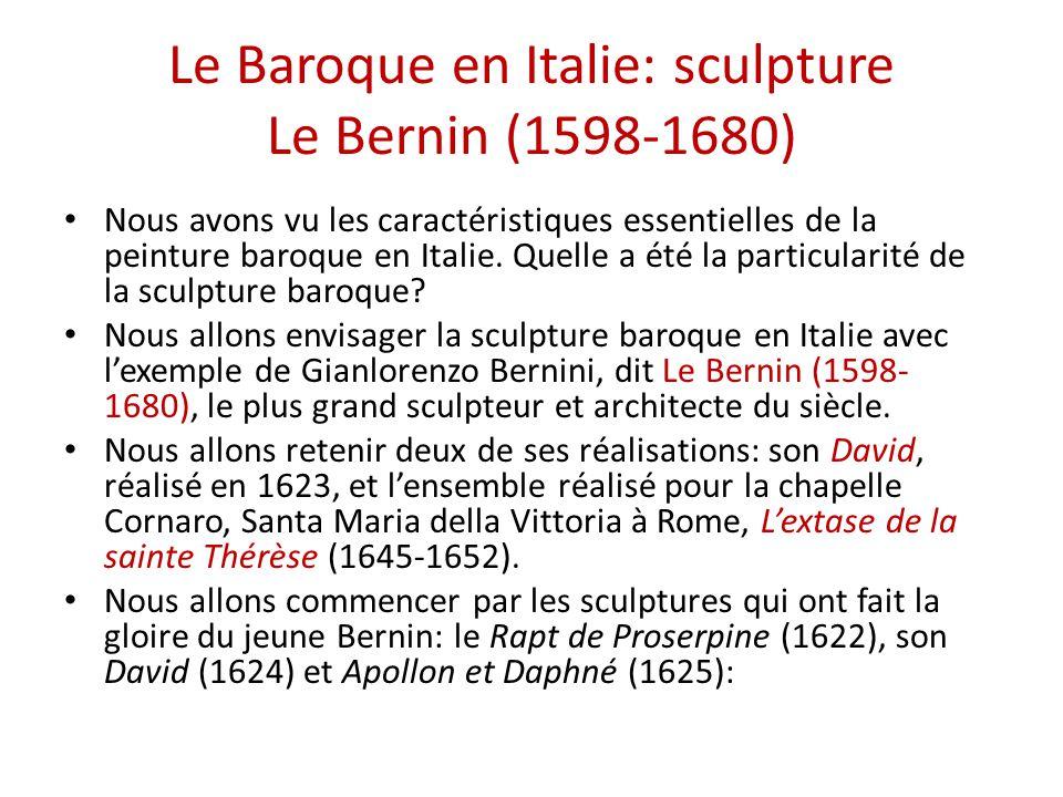 Le Baroque en Italie: sculpture Le Bernin (1598-1680)