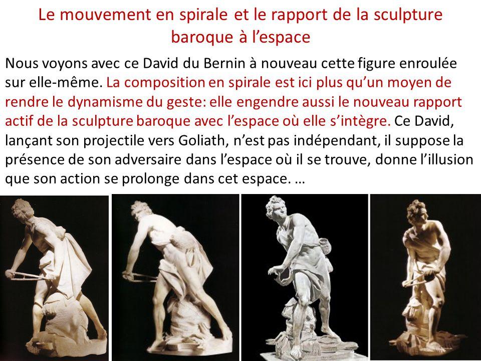 Le mouvement en spirale et le rapport de la sculpture baroque à l'espace