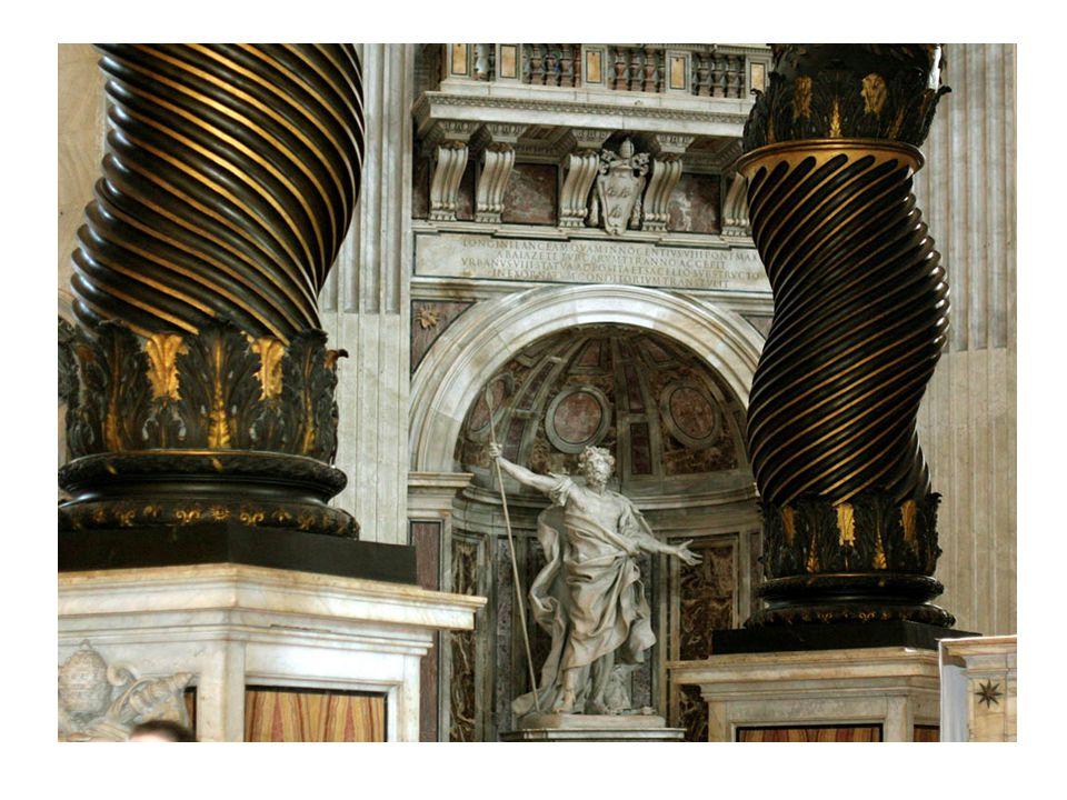 Saint Longin, et colonnes à vis du baldaquin