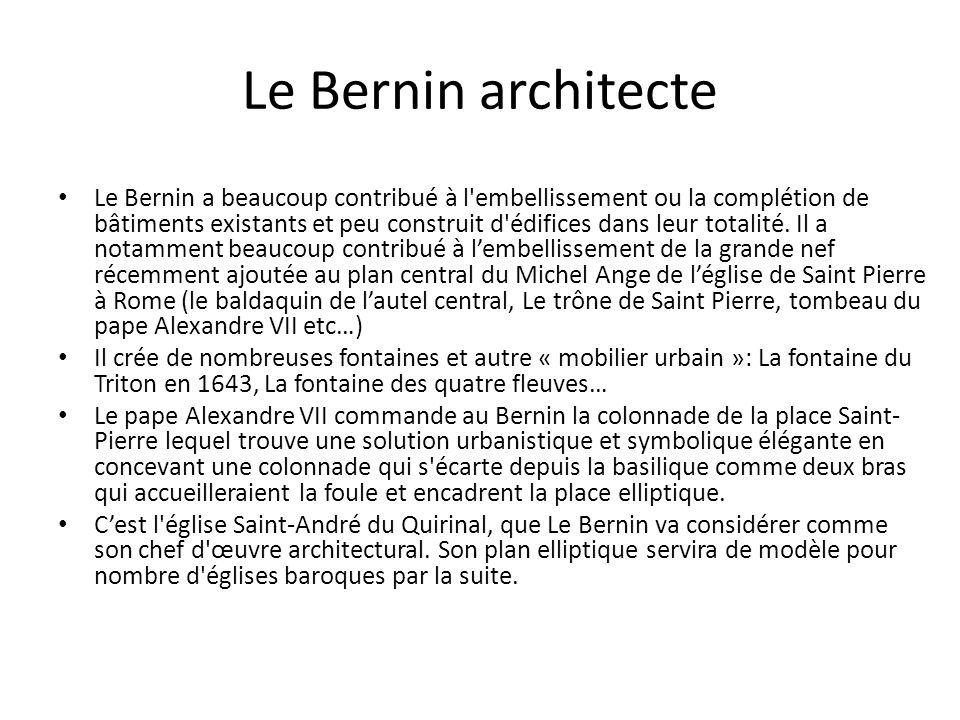 Le Bernin architecte