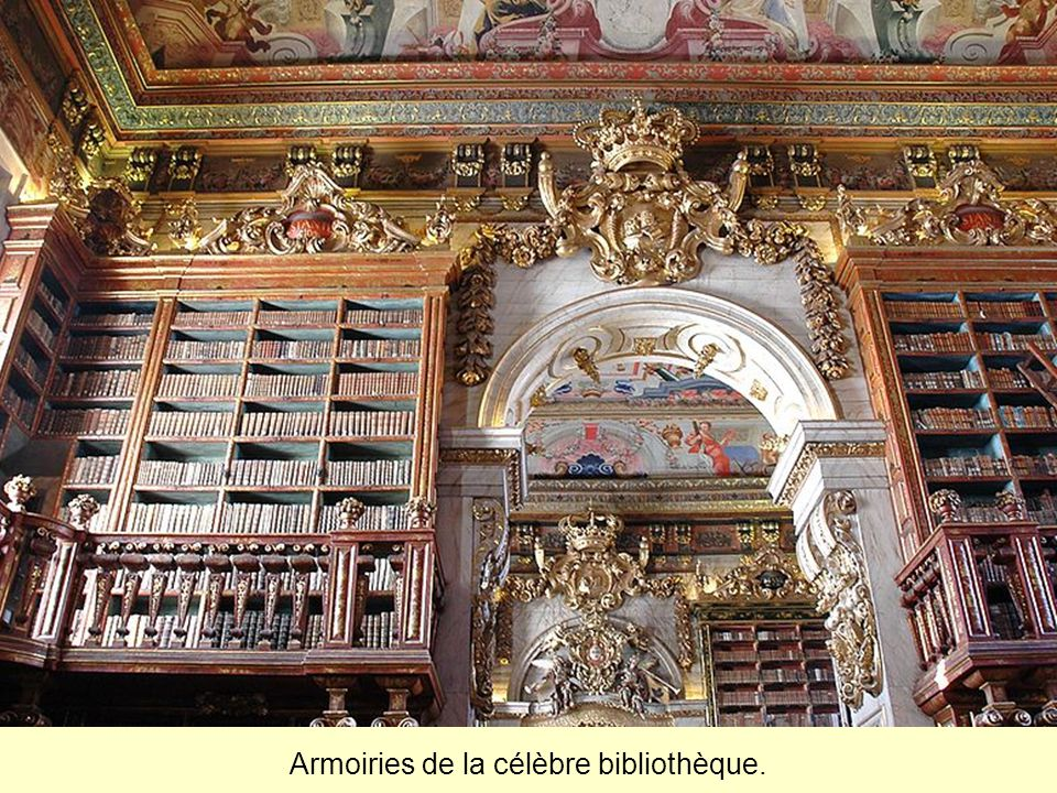 Armoiries de la célèbre bibliothèque.
