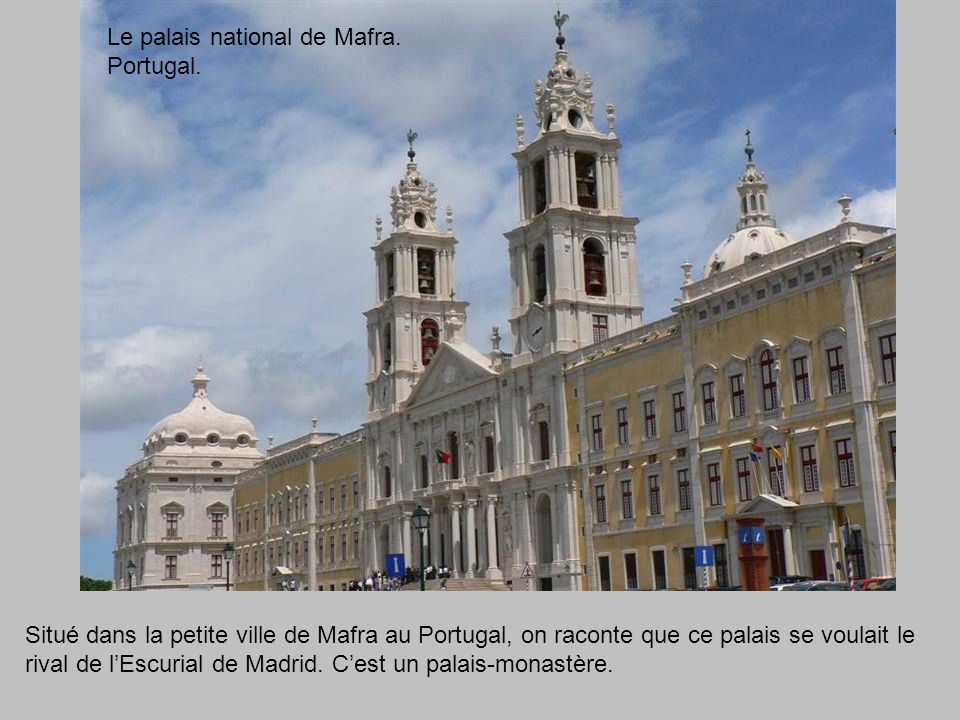 Le palais national de Mafra. Portugal.