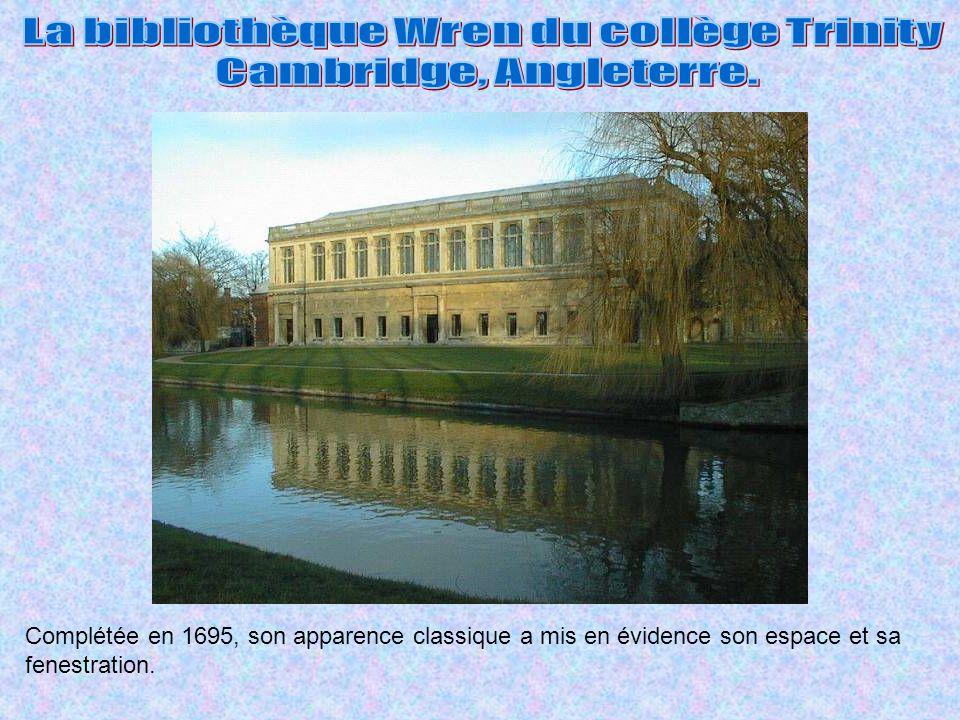 La bibliothèque Wren du collège Trinity