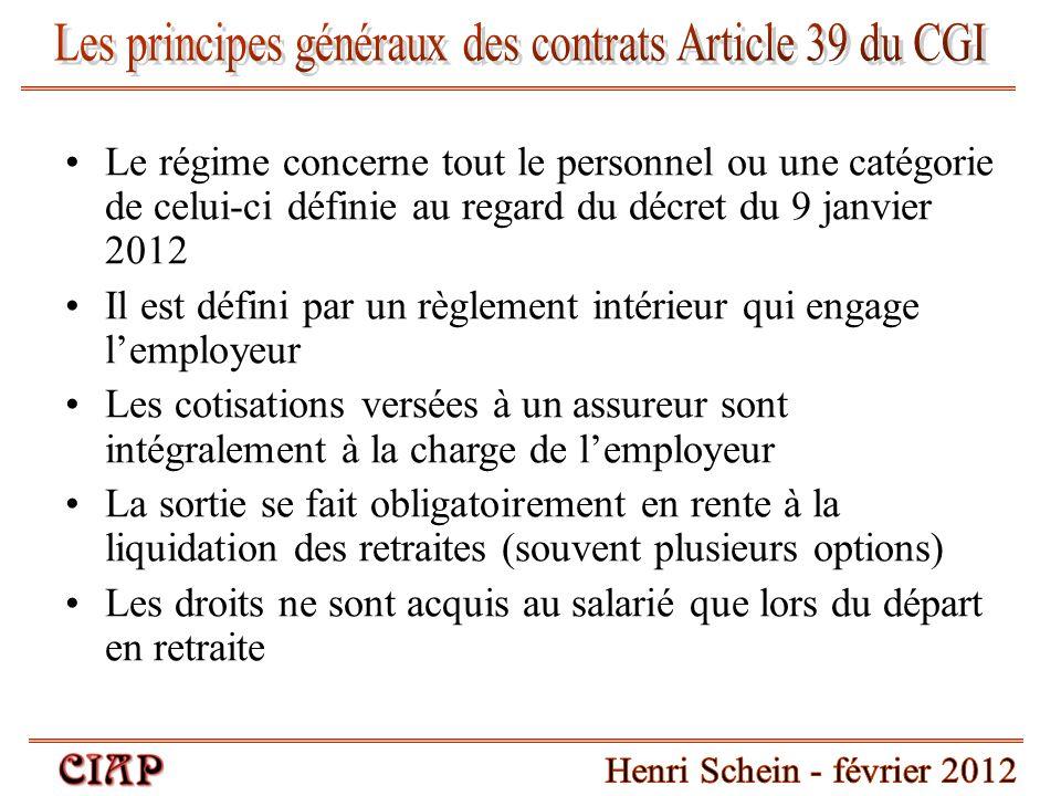 Les principes généraux des contrats Article 39 du CGI