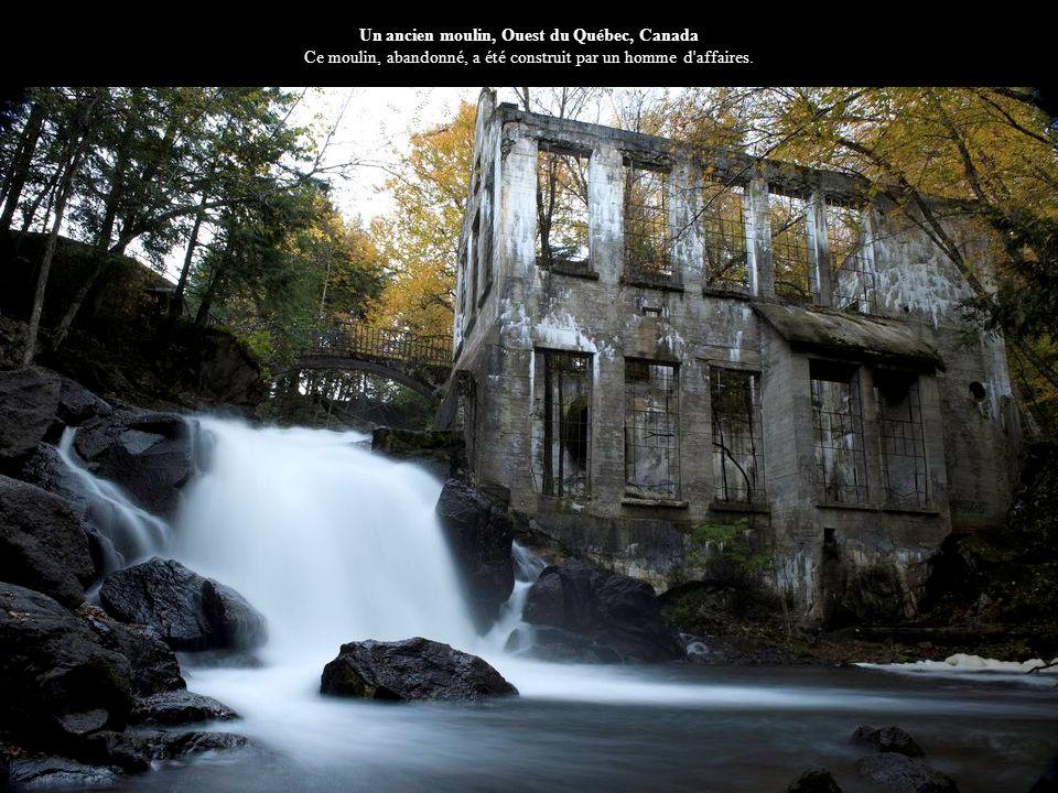 Un ancien moulin, Ouest du Québec, Canada Ce moulin, abandonné, a été construit par un homme d affaires.