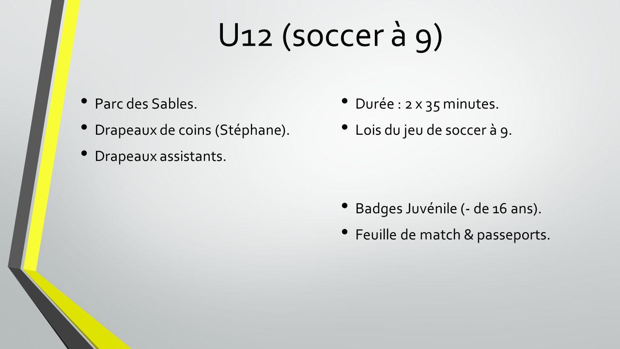 U12 (soccer à 9) Parc des Sables. Drapeaux de coins (Stéphane).