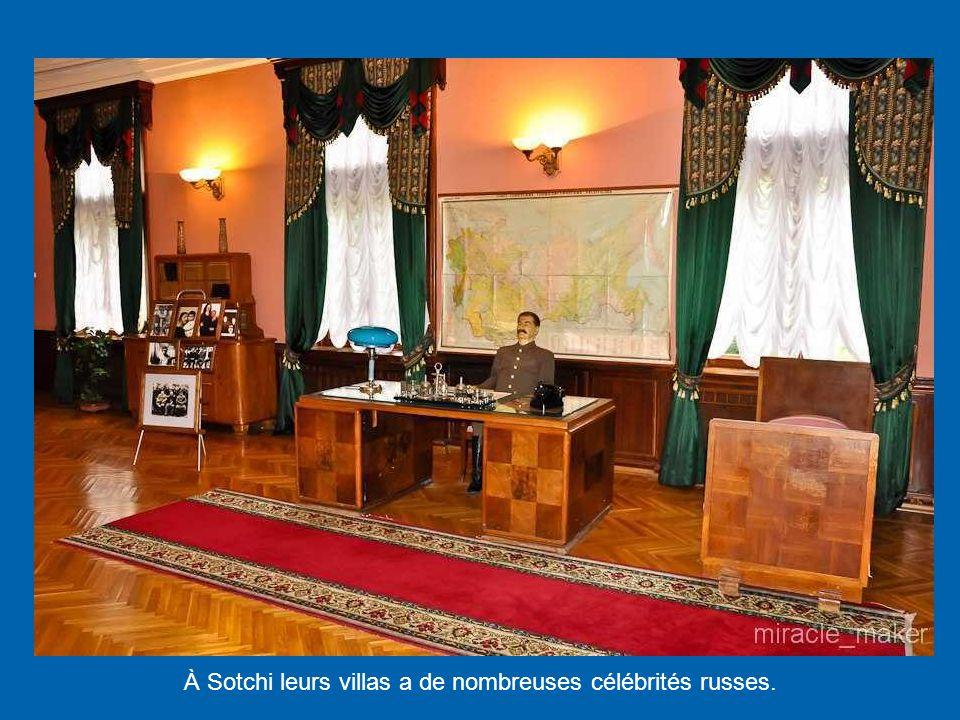 À Sotchi leurs villas a de nombreuses célébrités russes.