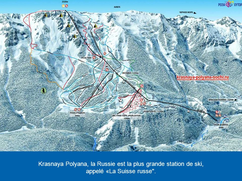 Krasnaya Polyana, la Russie est la plus grande station de ski,