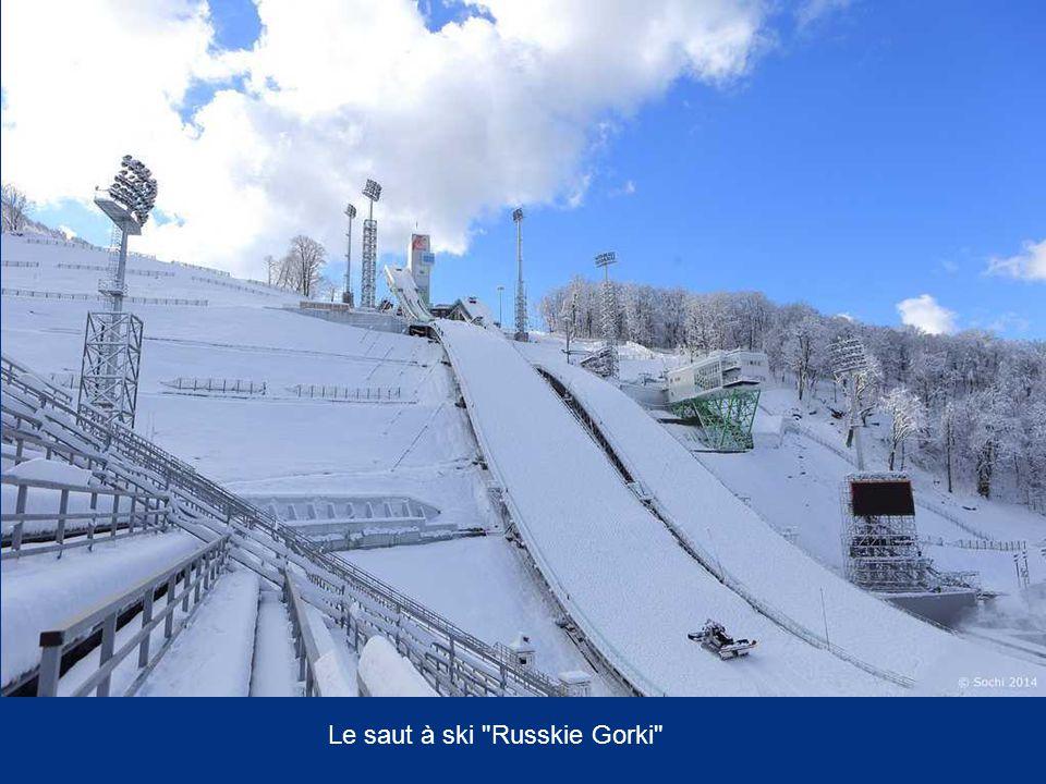 Le saut à ski Russkie Gorki