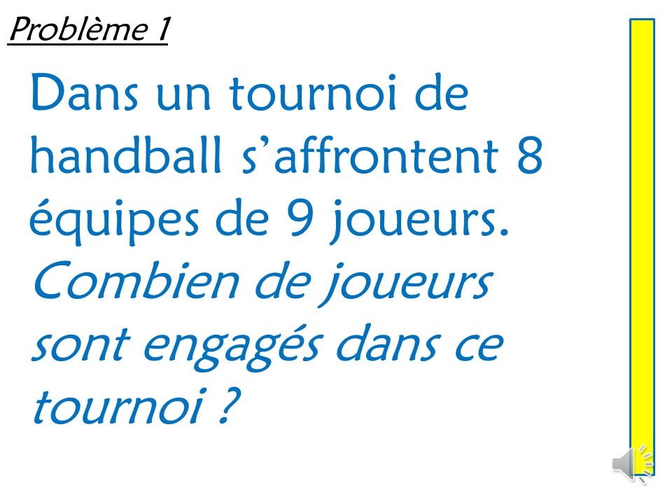 Dans un tournoi de handball s'affrontent 8 équipes de 9 joueurs.