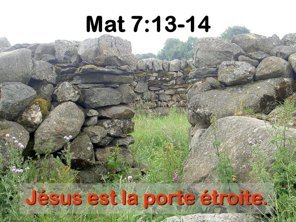 Jésus est la porte étroite.