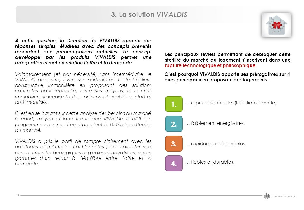 3. La solution VIVALDIS