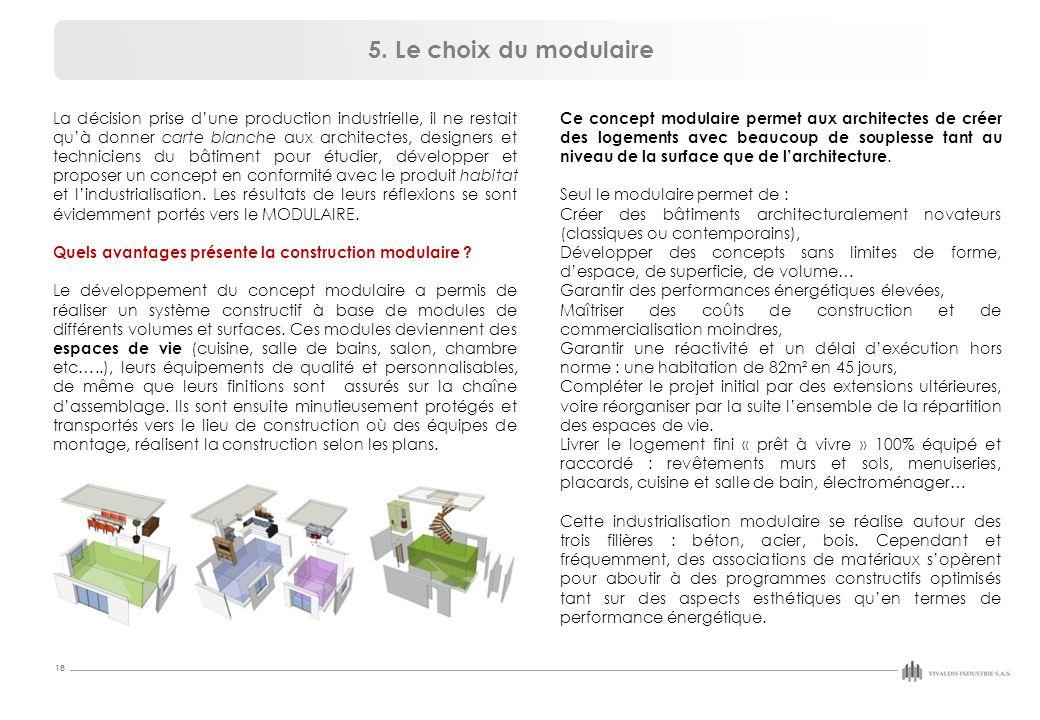 5. Le choix du modulaire