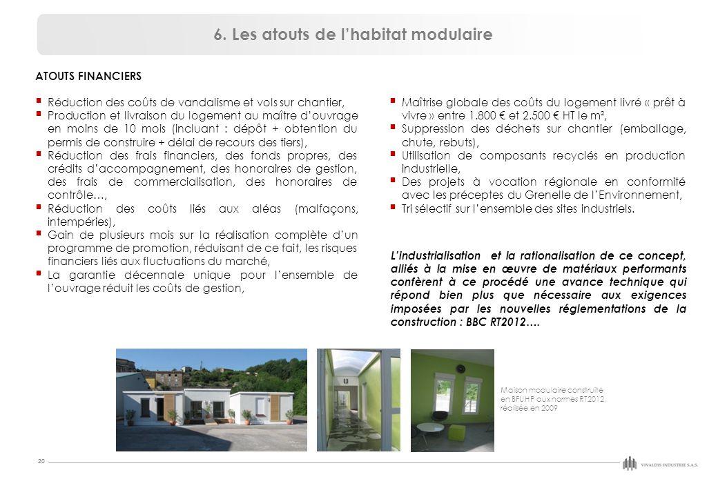 6. Les atouts de l'habitat modulaire