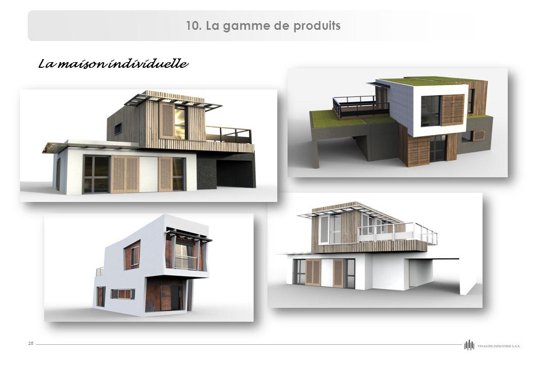 10. La gamme de produits La maison individuelle