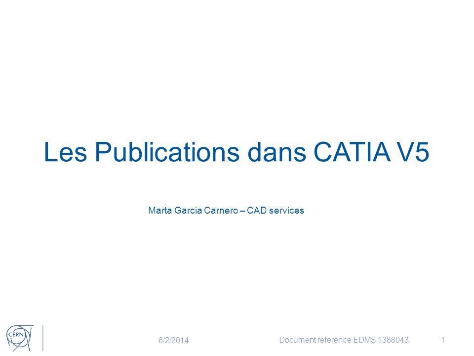 Les Publications dans CATIA V5