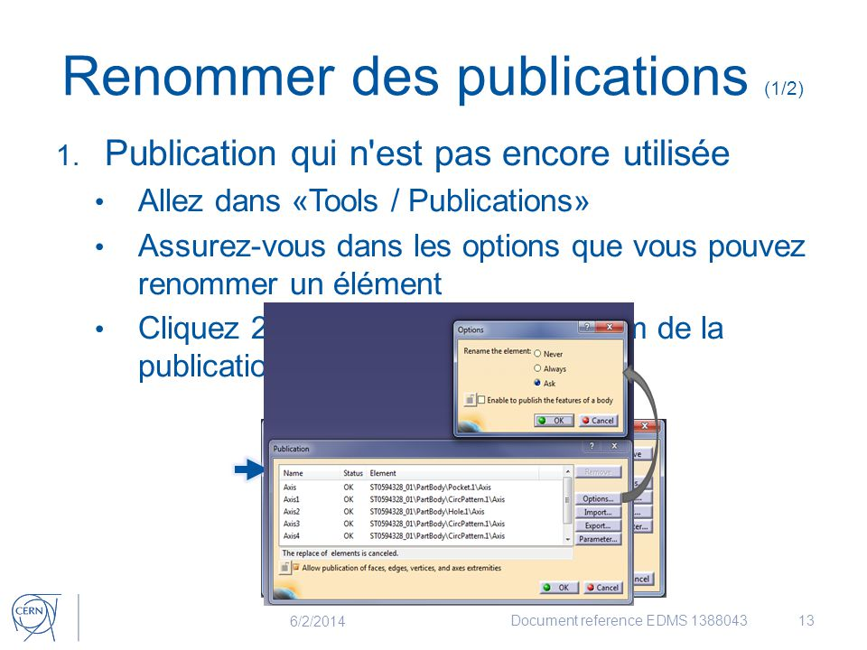 Renommer des publications (1/2)