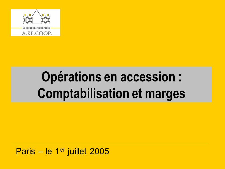Opérations en accession : Comptabilisation et marges