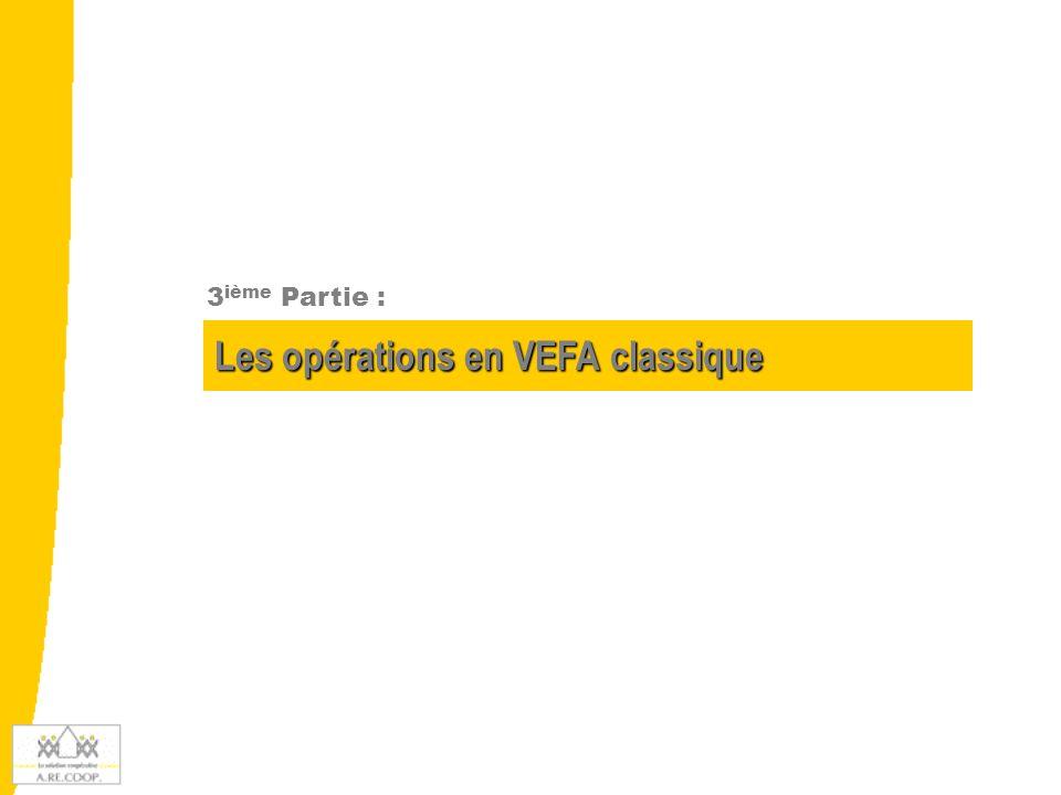 Les opérations en VEFA classique