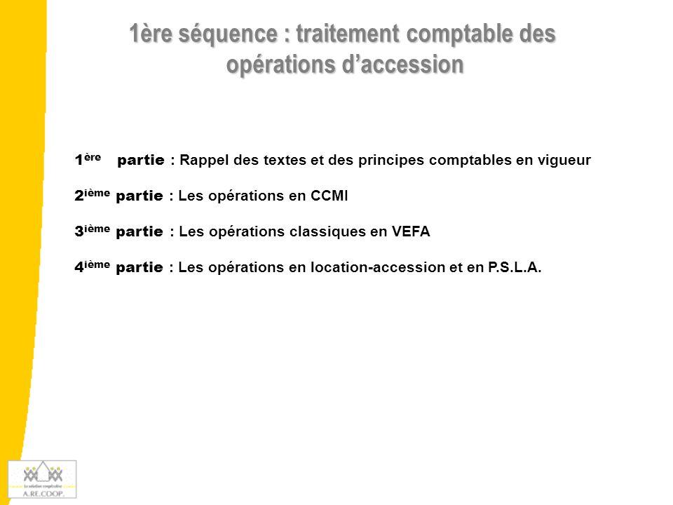 1ère séquence : traitement comptable des opérations d'accession
