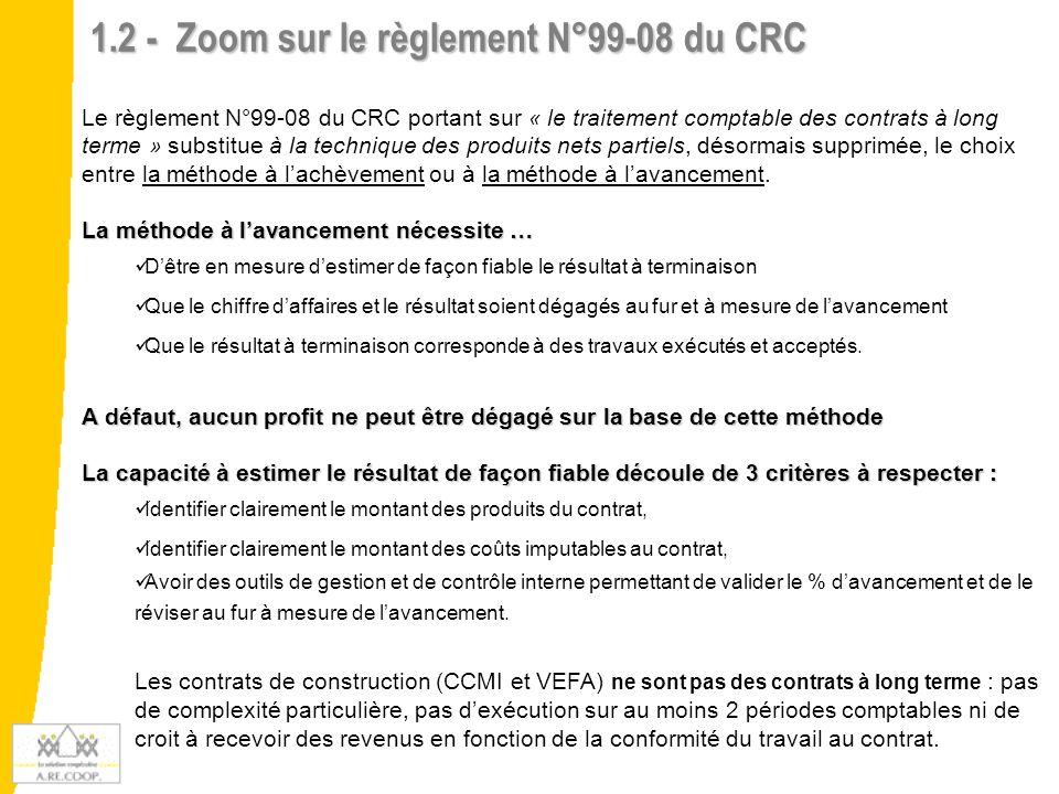 1.2 - Zoom sur le règlement N°99-08 du CRC