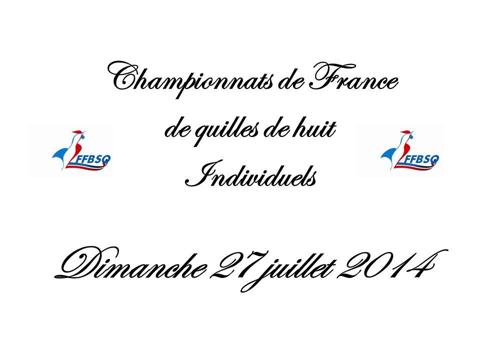 Championnats de France de quilles de huit Individuels
