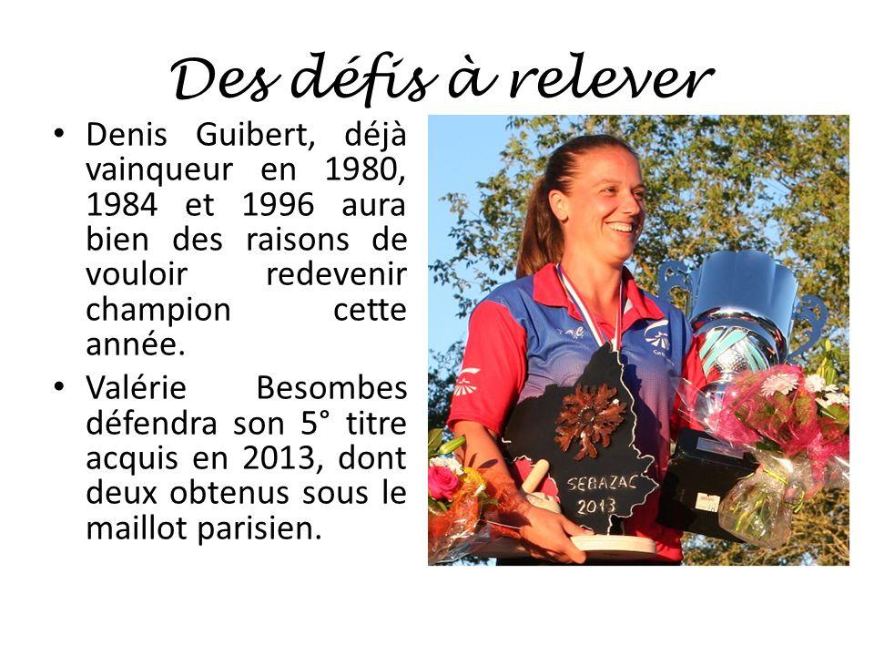 Des défis à relever Denis Guibert, déjà vainqueur en 1980, 1984 et 1996 aura bien des raisons de vouloir redevenir champion cette année.